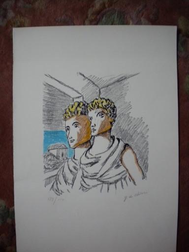 Giorgio DE CHIRICO - Stampa Multiplo - Due figure a mezzobusto