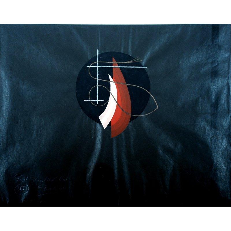 "César DOMELA - Painting - Progetto per Murale ""OUD"" (III)"