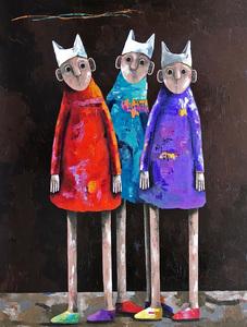Pascal MARCEL - Painting - Mes deux amis
