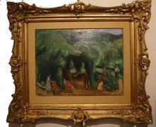 Charles KVAPIL - Painting - Le jardin de Viller-sur-Morin