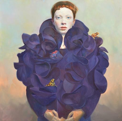 Sophie MORISSE - Painting - Manteau aux grenouilles