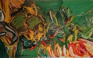 Bengt LINDSTRÖM - Peinture - FETE ANIMALE