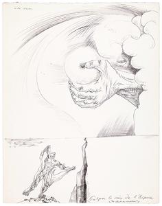André MASSON - Drawing-Watercolor - Palper le sein de l'Espace (Les chants de Maldoror)