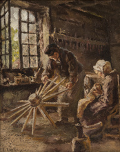 Léon Augustin LHERMITTE - Painting - Working Day