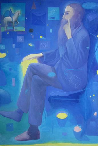 Pino DEODATO - Painting - Il Cavaliere Azzurro