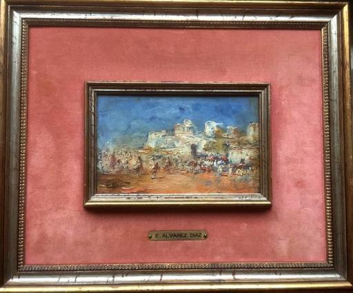 Emilio ALVAREZ DIAZ - Pintura - Fantasia at the village