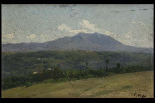 Coriolano VIGHI - Painting - Paesaggio collinare