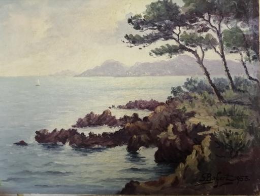 Georges BAFFERT - Painting - Paysage Côte d'Azur