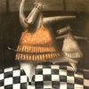Jorge VALLEJOS - Painting - Vaquita bailando balet II