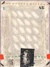 James COIGNARD - Print-Multiple - Rouge et Vert Bloqués et Personnage, 1979.