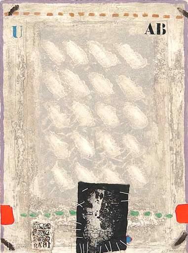 James COIGNARD - Grabado - Rouge et Vert Bloqués et Personnage, 1979.