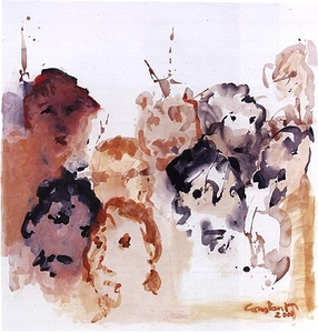 CONSTANT - Pintura - The spectators