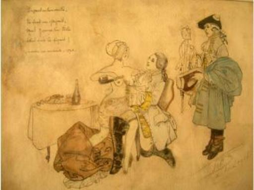 JOB - Dibujo Acuarela - Plaisirs de chair
