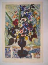 Louis BERTHOMMÉ-SAINT-ANDRÉ - Grabado - Bouquet de fleurs,1960.