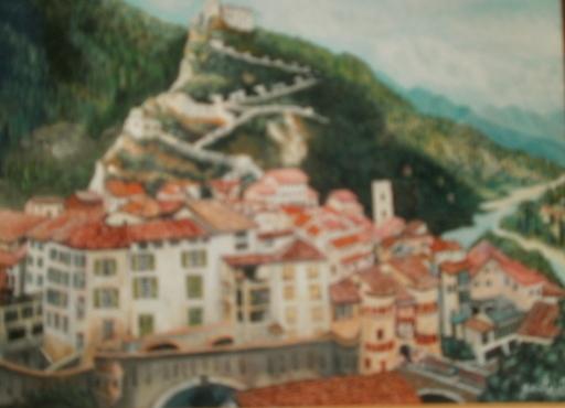 Jean-Claude LELIEVRE - Peinture - entrevaux 06