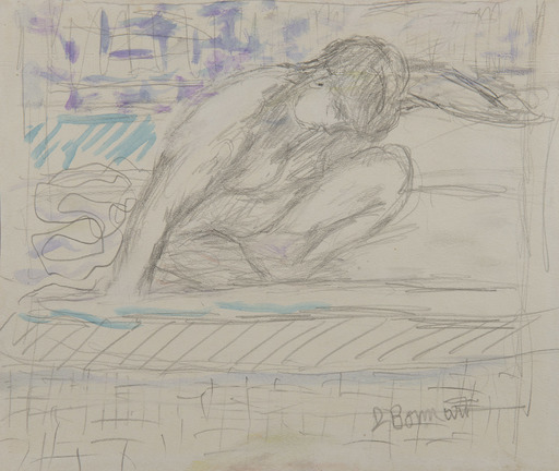 Pierre BONNARD - Drawing-Watercolor - Nu accroupi