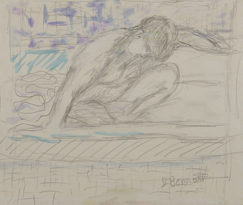 Pierre BONNARD - Dibujo Acuarela - Nu accroupi
