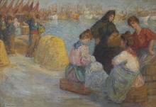 Pedro ISERN ALIÉ - Pintura - At the Dock