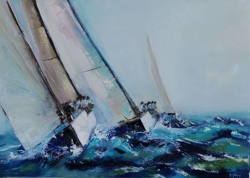 Muriel AVEROS - Painting - Régates