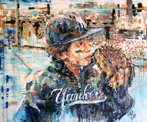 Henri LAMY - Painting - Baseball Kid