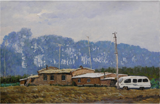 ZHANG Guangzhi - Peinture - 有车的农户
