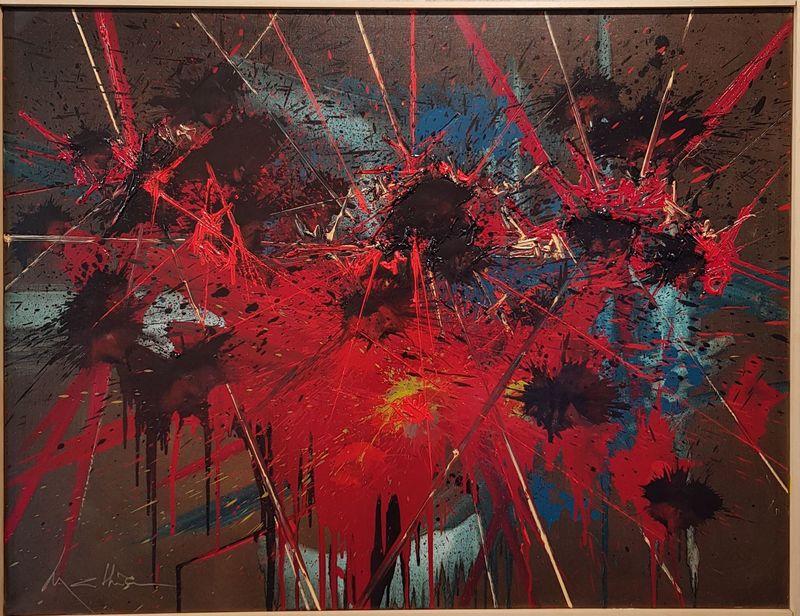 Georges MATHIEU - Pintura - Songes vagabonds