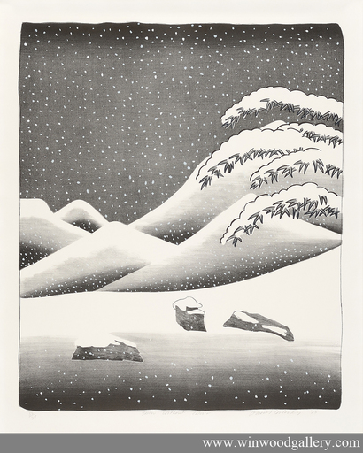 David HOCKNEY - Print-Multiple - Snow without colour