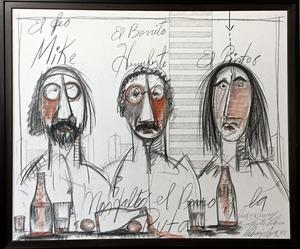 Vladimir CORA - Pintura - El feo, el bonito, y el pintor