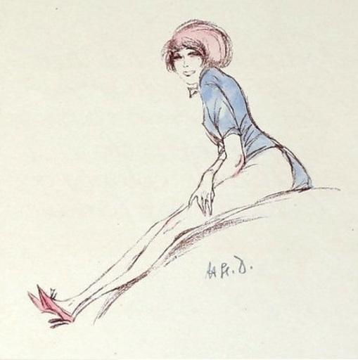 Erich GODAL - Drawing-Watercolor - Les Maitresses I