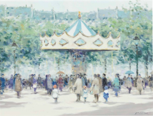 Andre GISSON - Painting - Carousel