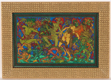 "Alfred WAAGNER - Dibujo Acuarela - Alfred Waagner (1886-1960) ""Ghosts"" watercolor, 1910s"