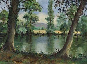 Paul Émile PISSARRO - Painting - Bord de l'Orne