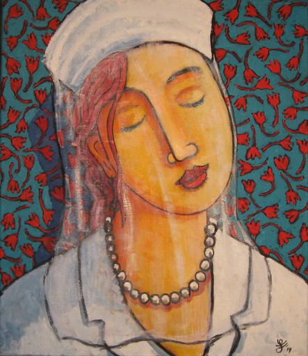 Jacques TANGE - Peinture - White Veil (Cat N° 4817)