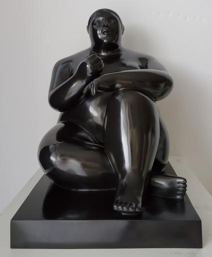 Fernando BOTERO - Sculpture-Volume - Donna Seduta con Mela