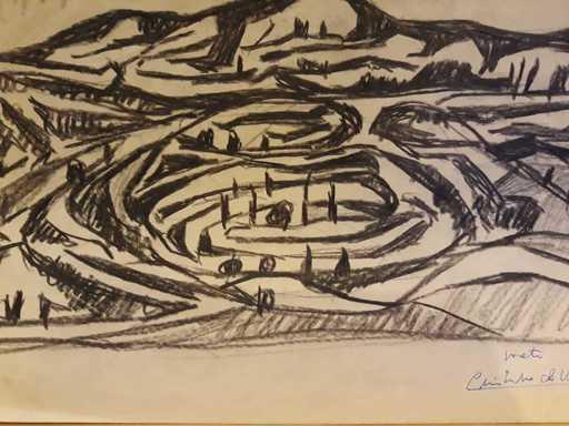 Cristino DE VERA REYES - Drawing-Watercolor - Paisaje