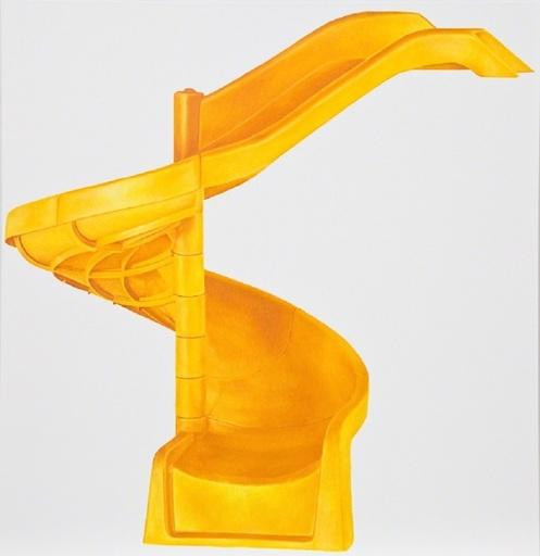 Louis EISNER - Peinture - Yellow Helter Skelter