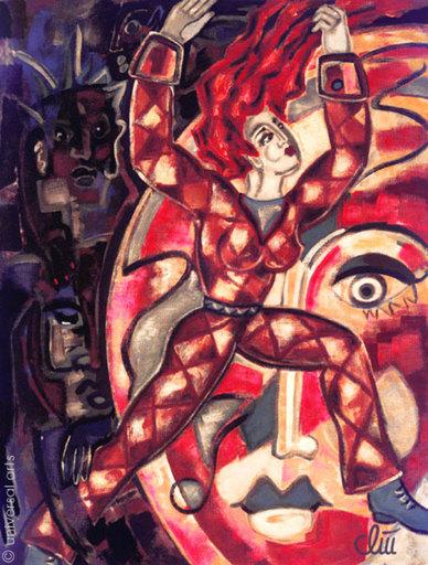 Jacqueline DITT - Peinture - Escape from Darkness (Flucht aus der Dunkelheit)