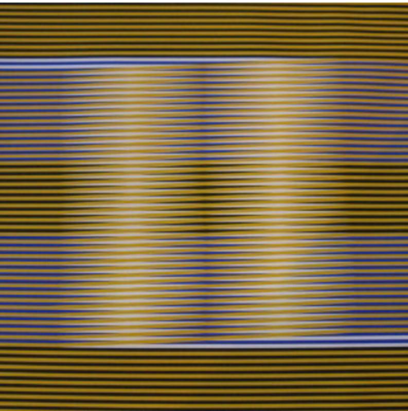 Carlos CRUZ-DIEZ - Estampe-Multiple - Induction chromatique (yellow/black)