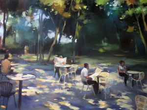 Alise MEDINA - Pintura - Morning in city