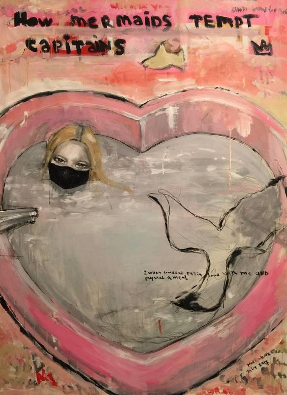 Julia PEKER-MOKHOVIKOVA - Pintura - How Mermaids Tempt Captains