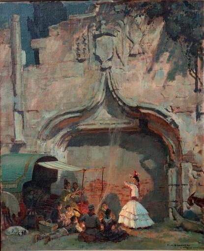 "François Maurice ROGANEAU - Pittura - ""DANSE GITANE A SANTA-CRUZ"""