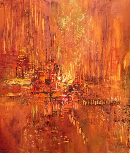 Diana MALIVANI - Gemälde - The Sun of India