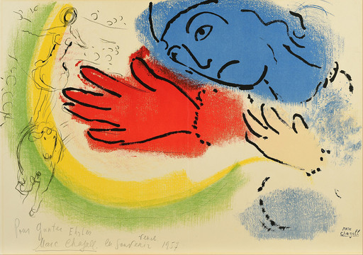 Marc CHAGALL - Estampe-Multiple - l'Ecuyère