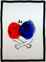 Keith HARING (1958-1990) - Composition XIX, from: The Story of Red and Blue Suite