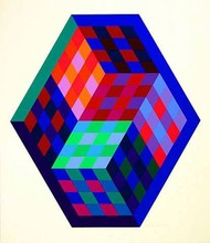 Victor VASARELY - Estampe-Multiple - Gordes Tridim