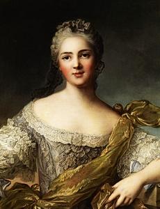 Jean-Marc NATTIER - Painting - portrait de Victoire de France