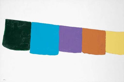 Bewabon SHILLING - Pintura - Untitled - Hanging Colours