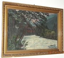 Felix WIDDER - Painting - Landscape with River