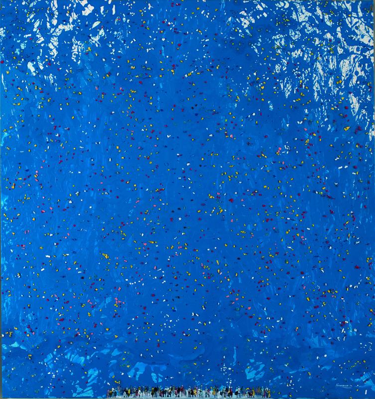 Chaouki CHAMOUN - Painting - Festive sky