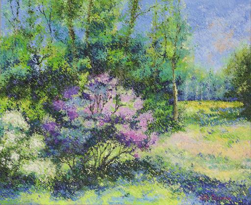 Lelia PISSARRO - 绘画 - Le Jardin de Lélia Pissarro